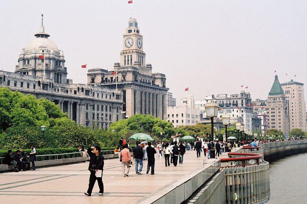 Promenade The Bund quartier de Shanghai