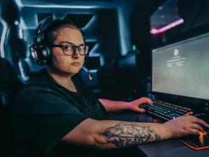 Joueur pro vidéo games, gamer