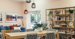 decoration in both industrial and Scandinavian styles