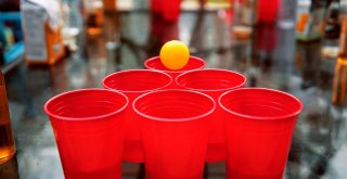 special red beer pong cups