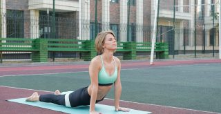 sportive woman doing fitness